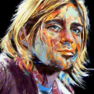"70X120 "" KURT COBAIN ( Nirvana ) """