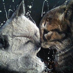 il bacio dei gatti 60x90