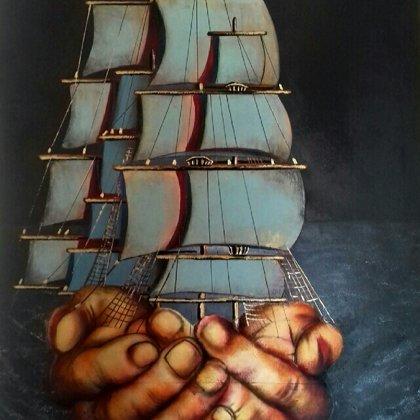 60x90 barche surreali 2