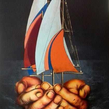 60x90 barche surreali 1